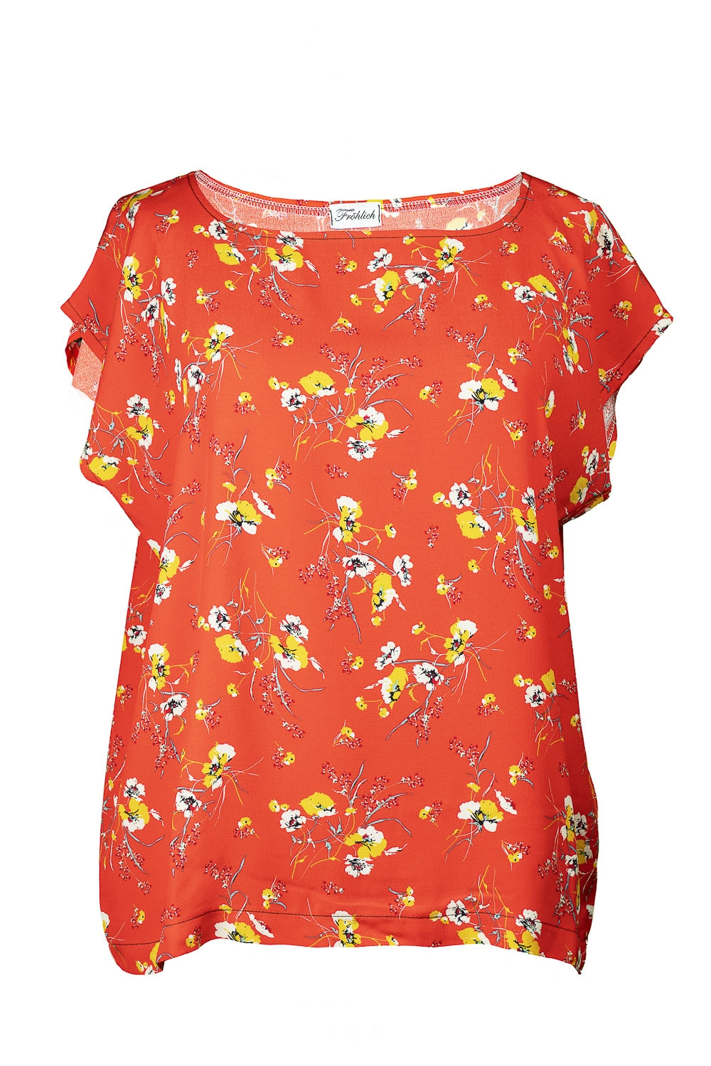 Shirt 5 KA  orange Blumenprint