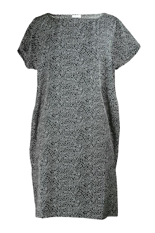 Kleid 5KA schwarz-weiss Muster Vorderseite 2 (c)dorisfroehlich